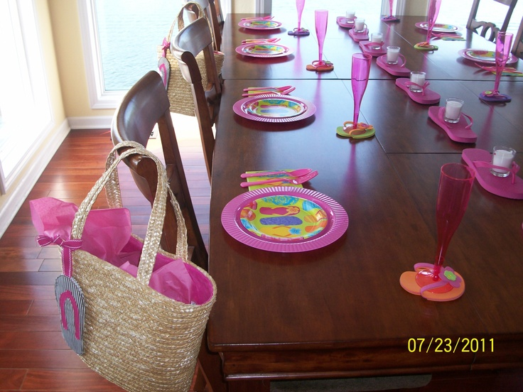 Lake Themed Bridesmaid Luncheon With Gift Bag For