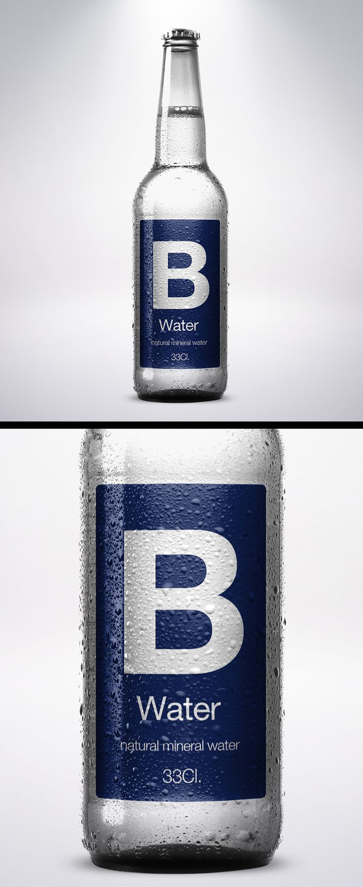 B water | Natural Mineral Water Packaging. on Behance
