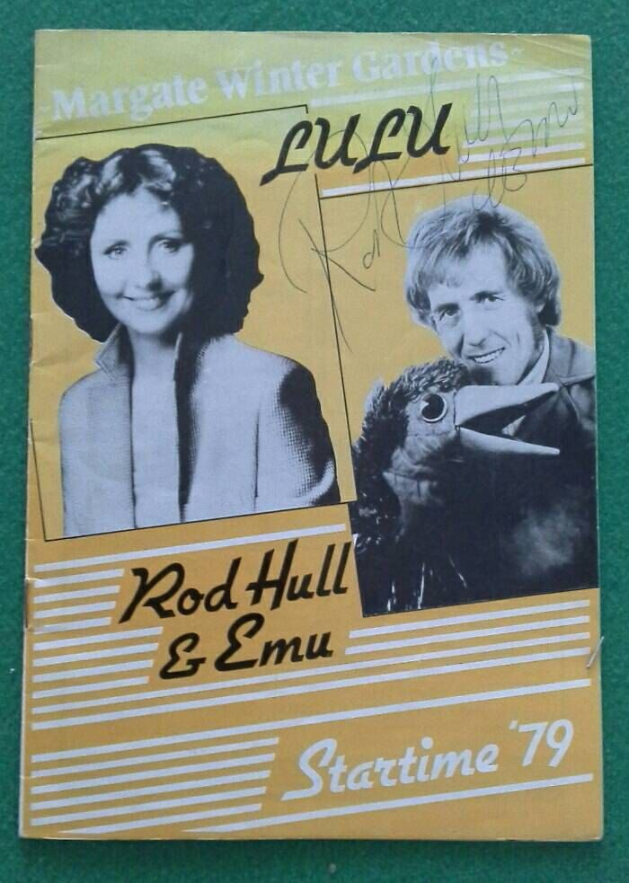 Rod Hull and Emu Autograph 1979 and original 1970s Emu puppet 67cm long by bastarduk on Etsy