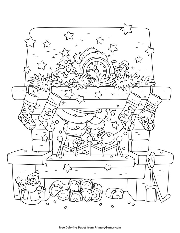 Christmas Coloring Pages EBook Christmas Chimney