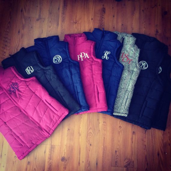 Monogrammed Vest by southernmadeofnc on Etsy/ Navy or black