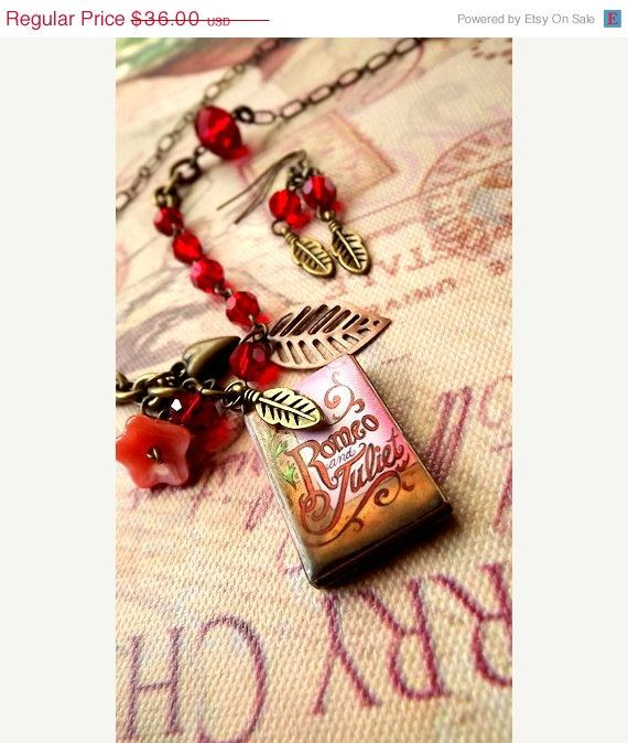 CIJ Sale Romeo and Juliet Necklace and by FairyGlowLantern on Etsy, $28.80