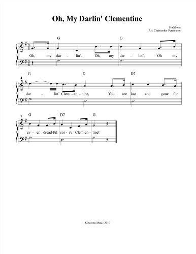 oh my darling clementine lyrics pdf