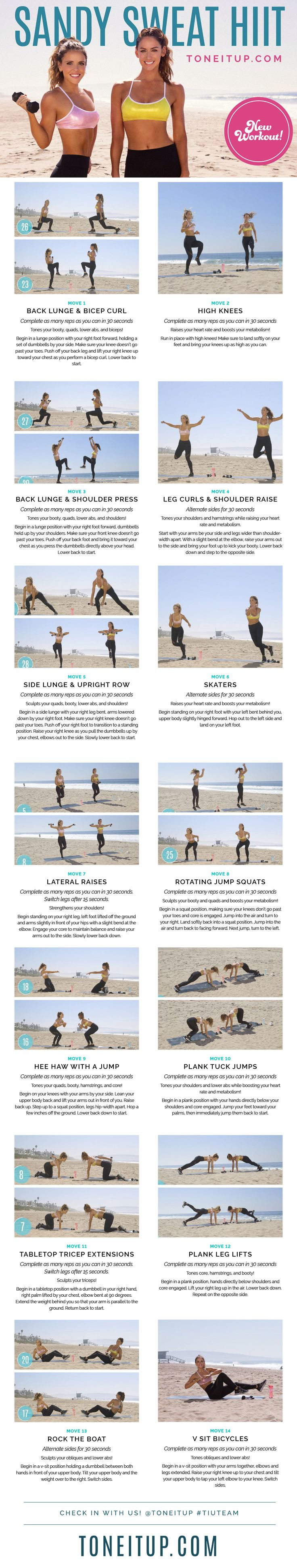 NEW Bikini Series Workout ~ Sandy Sweat HIIT Routine