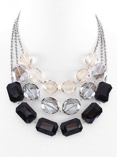 All Glass Beads Statement Necklace