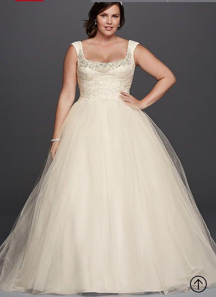 4a471bf8c9b David s bridal Oleg Cassini 8cwg733 wedding dress size 18 white BRAND NEW
