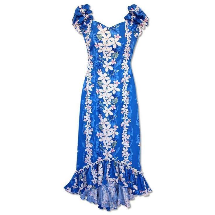 Kuulei Blue Niihau Hawaiian Muumuu Dress  #hawaiian #madeinhawaii