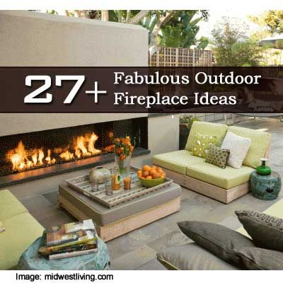 27  Fabulous Outdoor Fireplace Ideas