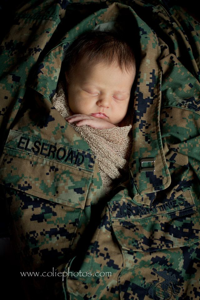Colie Photos Newborn Photography | Newborn in Marine Cammies