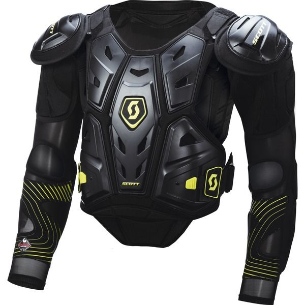 Scott COMMANDER Protector with Sleeves (BLK/GRN) *Leatt Compatible*