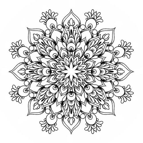 First of my new bunch of mandalas, get in contact if you are interested! #mandala #geometric #tattoo #linework #dotwork #blacktattoo