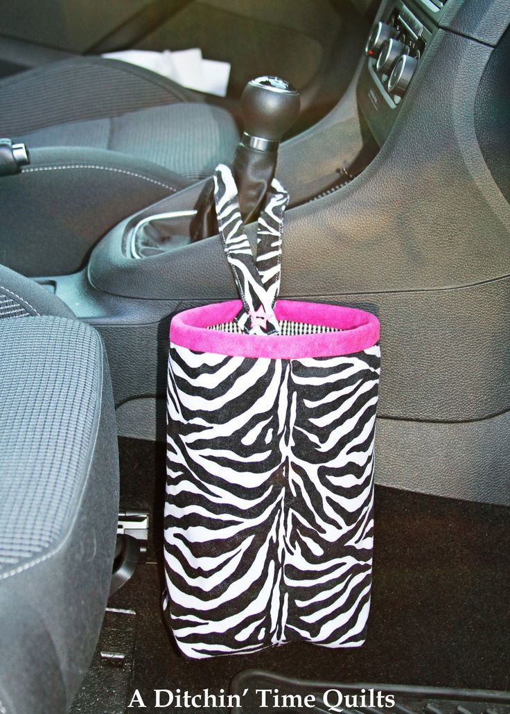 Car trash bag tutorial ... great idea!