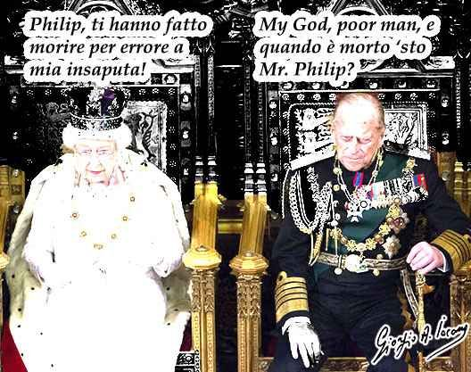 """Il principe Filippo fatto morire all'insaputa della regina Il Sun fa morire il principe Filippo (per errore). """"Il principe Filippo morto a 95 anni, come è morto il duca di Edimburgo, etc, etc"""", titolava il quotidiano in quella che appariva chiaramente come u #principefilippo #reginaelisabetta"""
