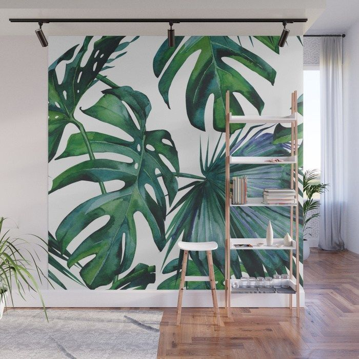 Tropical Palm Leaves Classic Wall Mural By Followmeinstead Wall Art Monstera Leaves Botanical Art Affili Marble Wall Mural Jungle Wall Mural Wall Murals Canvas wall art green leaf simple life painting dathroom wall decor monstera plant 3 pieces framed… natural art simple green leaves canvas art tropical plants artwork minimalist watercolor painting wall decor for bathroom living room bedroom kitchen canvas prints. pinterest