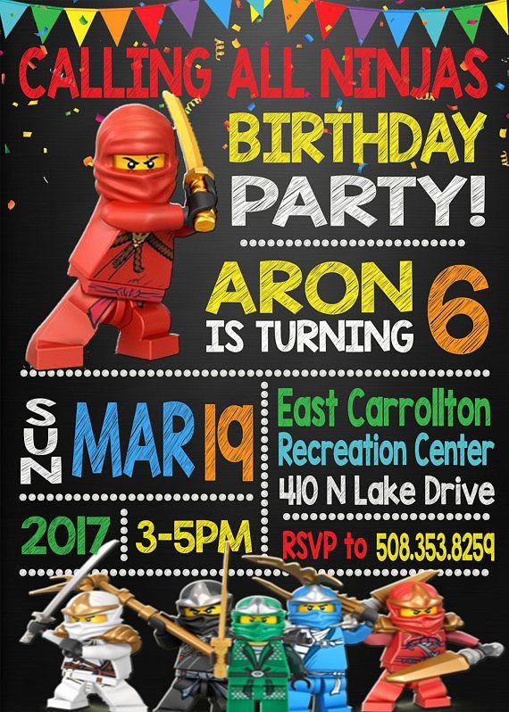 Lego Ninjago Birthday Invitation Lego Ninjago Birthday Party