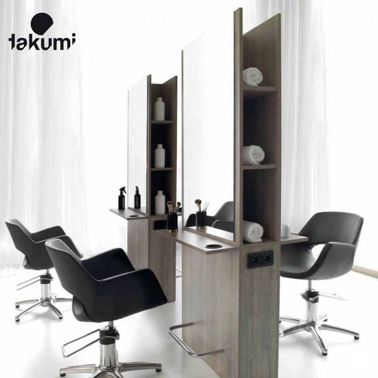 Pack mobilier salon coiffure kento 4 postes PRO BEAUTE