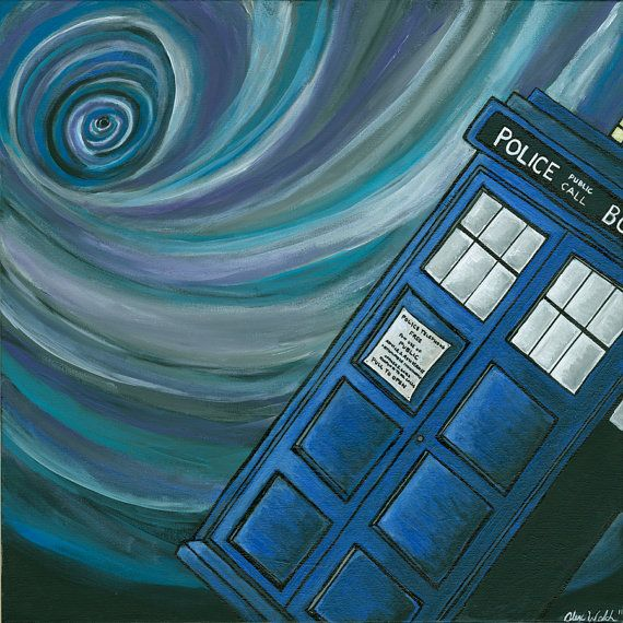 Tardis Print 12x12 Giclee by alexandreawelch on Etsy, $40.00