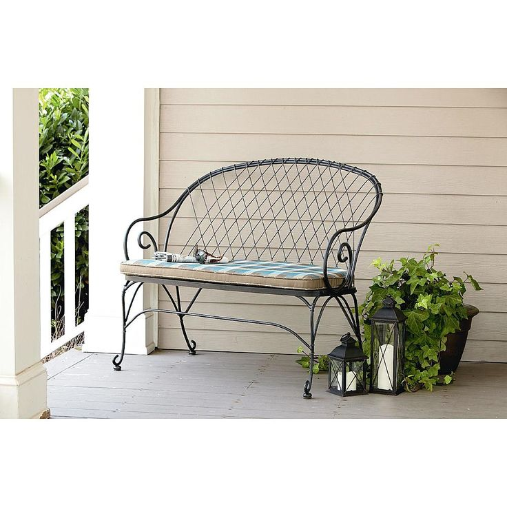 $199 At Kmart Jaclyn Smith Cherry Valley 2 Person Bench  Blue   Outdoor  Living