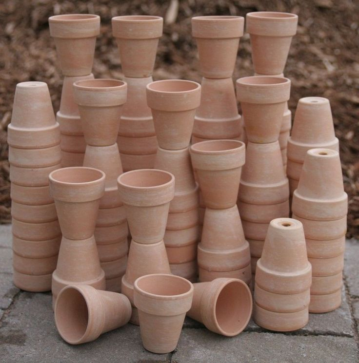 Bulk Lot Of 200 Clay Flower Pots Wedding Favor Craft