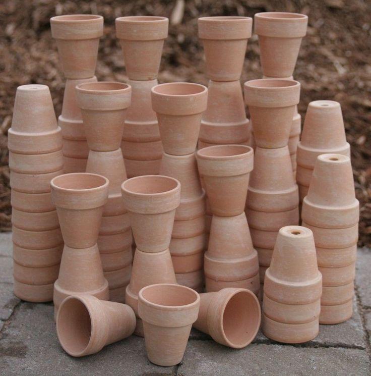 Bulk lot of 200 clay flower pots wedding favor craft
