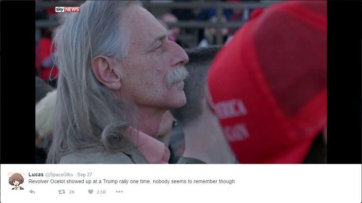 Revolver Ocelot goes unnoticed at Trump Rally