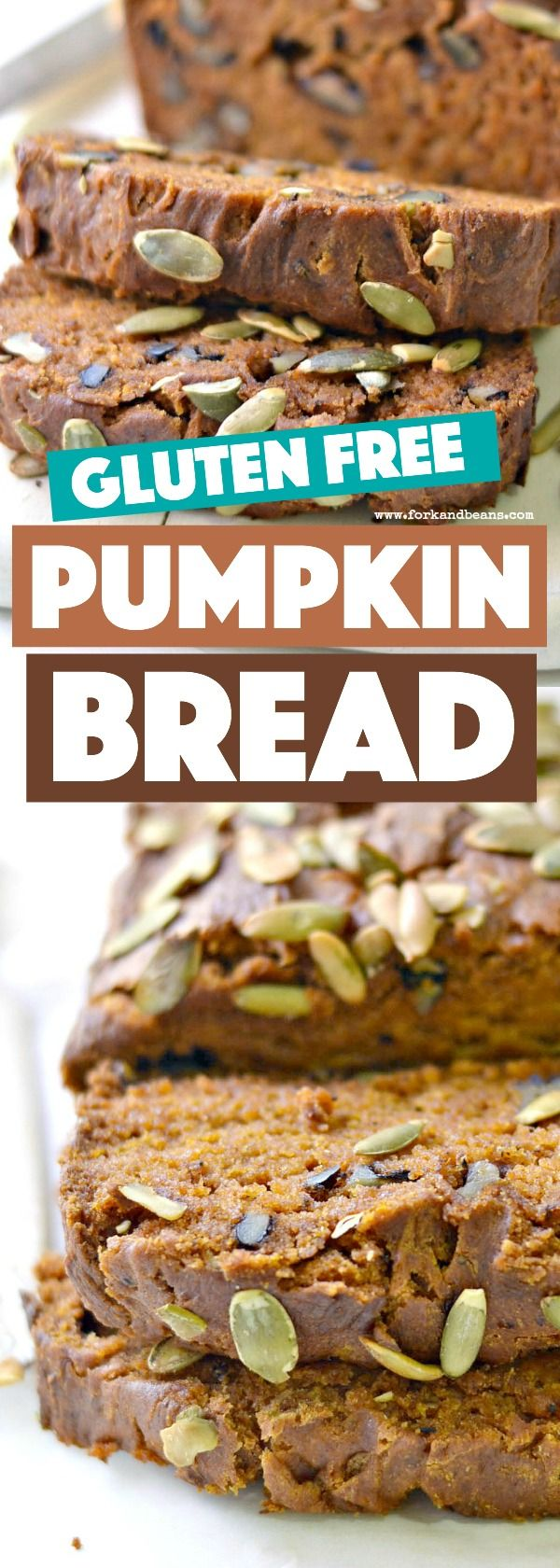 This gluten free vegan pumpkin bread is so moist and tasty, you'll never know it's made without gluten, eggs, and dairy!