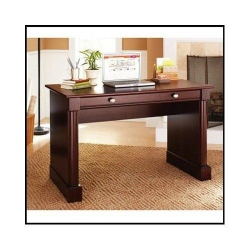 Wood-Computer-Desk-Office-Furniture-Table-Workstation-Cherry-Writing-Drawer-Home