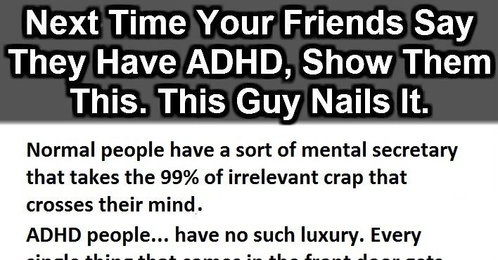 If Your Friends Ever Say They Have ADHD, Just Show Them This.