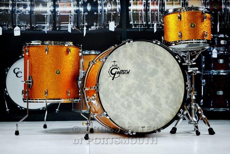 Gretsch USA Custom Drum Set 24/13/16 Gold Sparkle - Drum Sets - Drums : Drum Center of Portsmouth