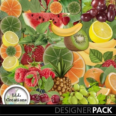 Fruity! by LLL Creations. #scrapbooking #digitalscrapbooking #fruit #garden #LLLCreations