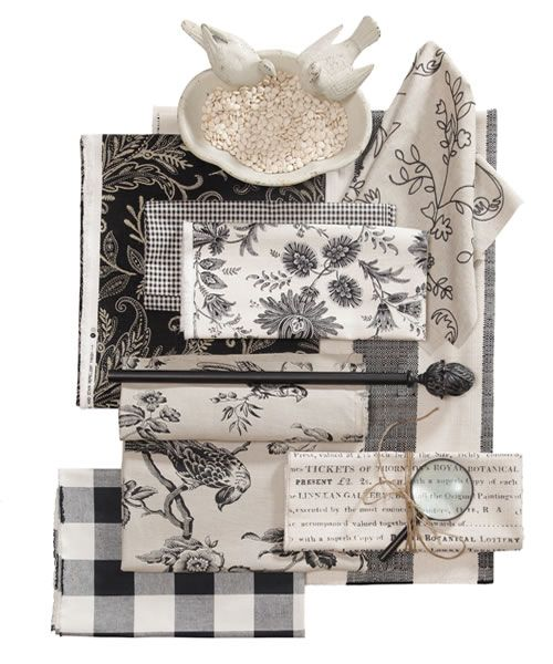 Early Edition Fabrics, Black & White Fabrics - Calico Corners