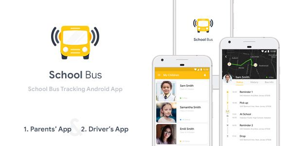 Free Download School Bus Tracking Android App (XML Code