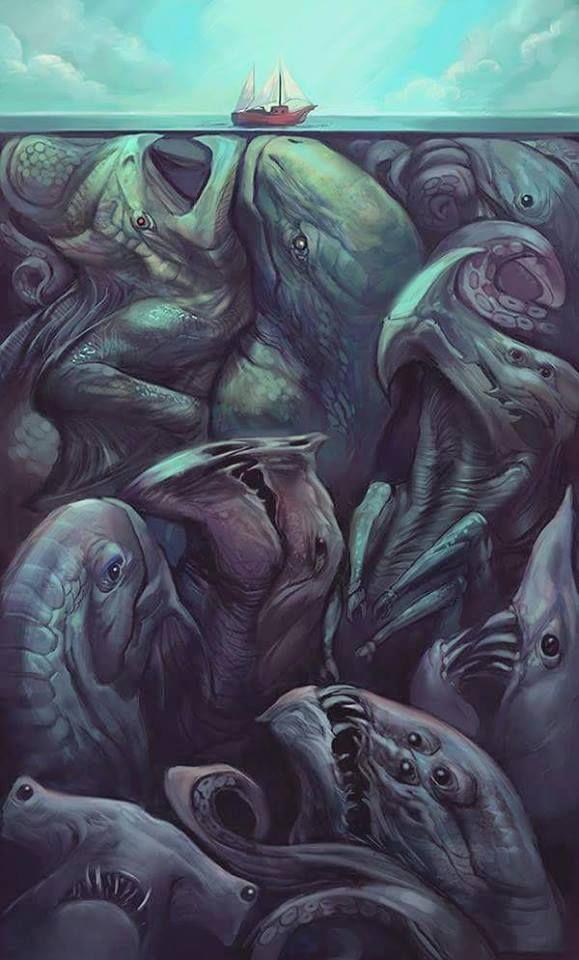 - Lo que se encuentra debajo de las tranquilas aguas - Ilustrador Julie Dilon