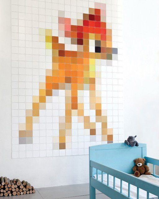 Bambi, by Ixxi.  http://www.thefancy.com/things/279134949/Bambi-Pixel-Wall-Covering-by-ixxi