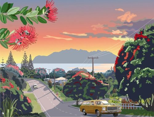 Road to Leigh 1979 by Retro Posters for Sale - New Zealand Art Prints