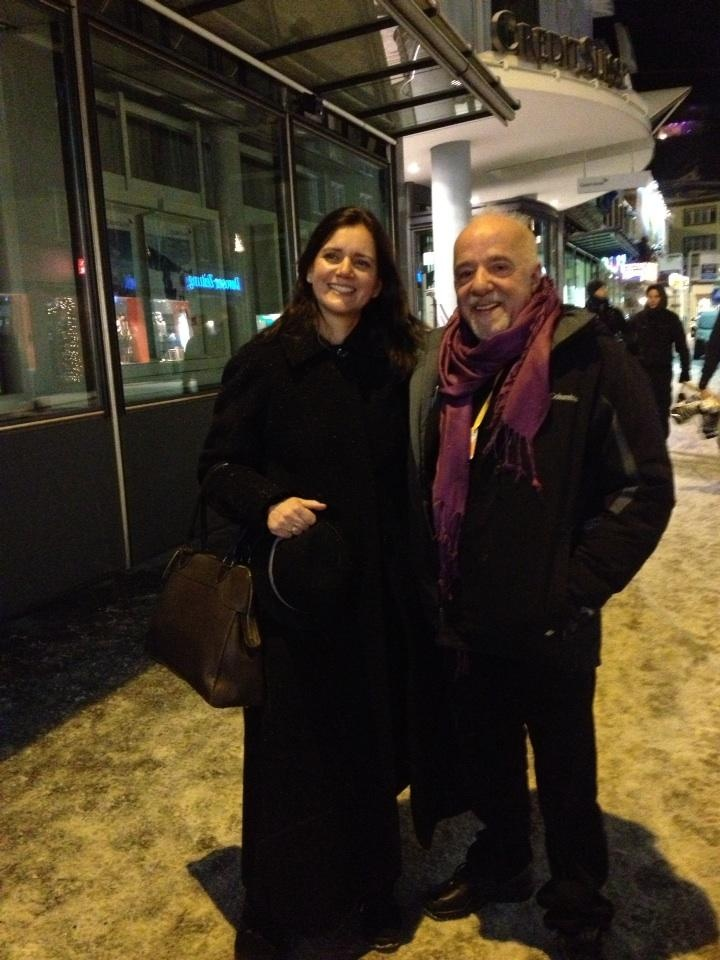 With Paulo Coelho, Davos in 2013