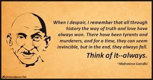 Image result for mahatma gandhi quotes about tyrants