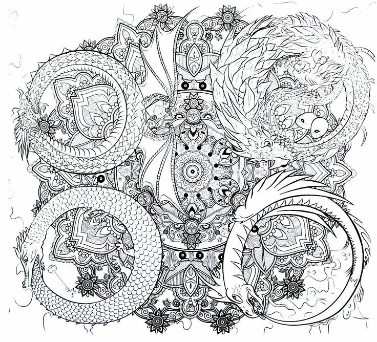 32 best Fantasy Coloring Book Pages for Adults images on ...