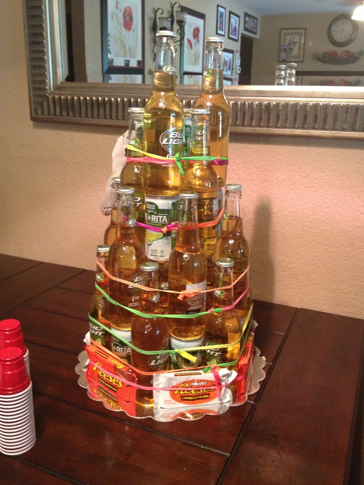 Bud light lime and limarita cake with peanut butter cups...I really want to make this for someone!!