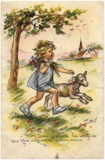Vintage postcard - Germaine Bouret