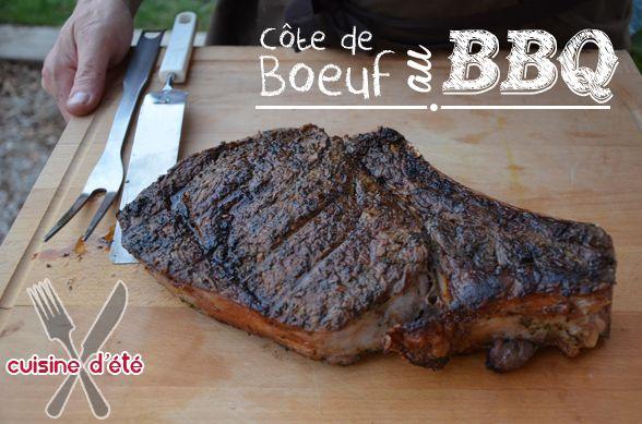 côte de boeuf au BBQ  #Barbecue #BBQ #Cuisine #Kitchen #Recette #Recipe #Soleil #Sun #Ete #Summer