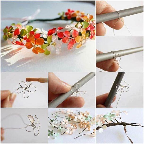 DIY Nail Polish Flowers, so pretty ! Tutorial: http://wonderfuldiy.com/wonderful-diy-nail-polish-flowers/