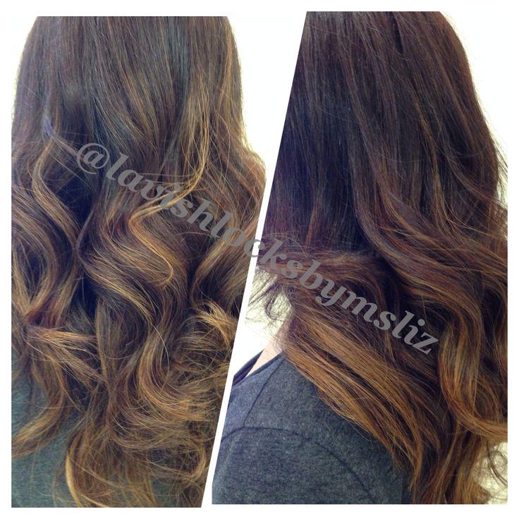 Subtle balayage. Hair by Liz Lopez @lavishlocksbymsliz Carlton Hair Mainplace, Santa Ana, Ca 714-542-8868