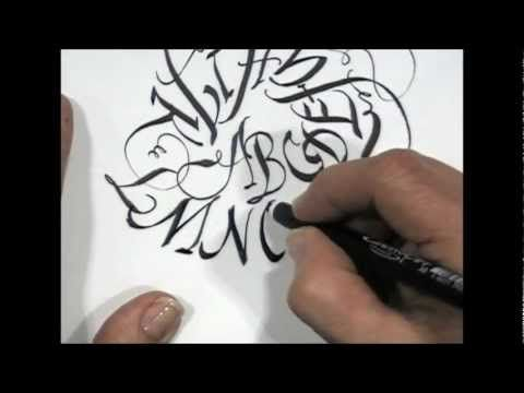 Pigma Calligrapher Demo ft. Maria Thomas
