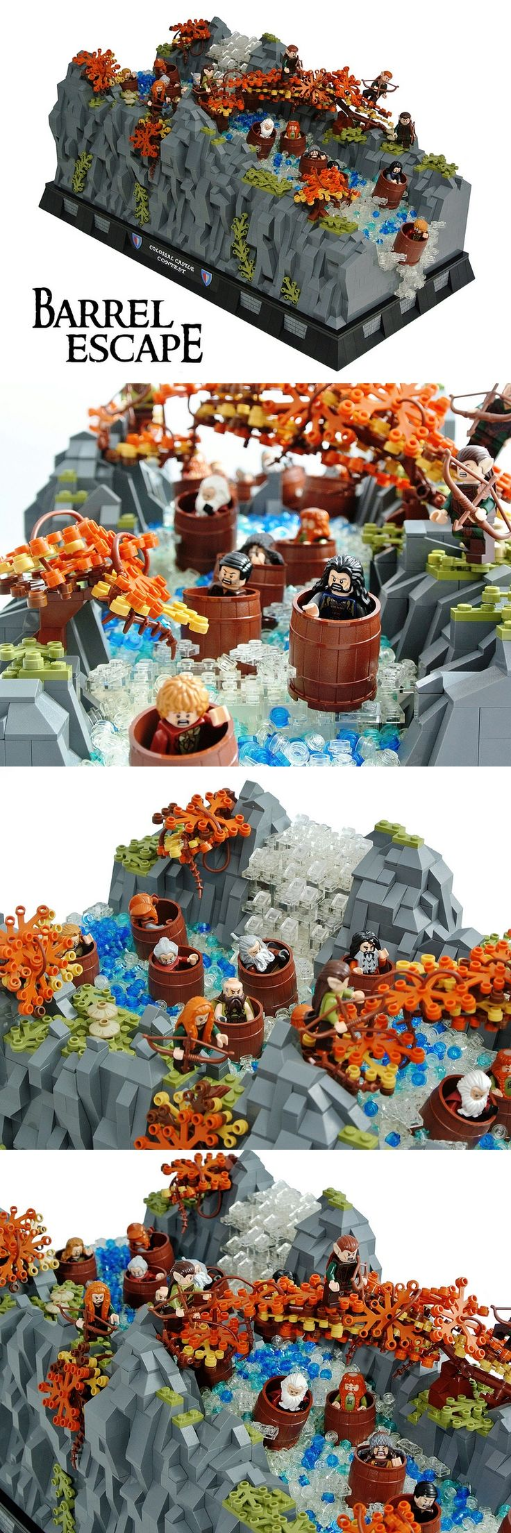 Barrel Escape #LEGO #LOTR