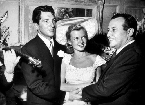 Dean Martin & Jeanne on their wedding day, September 1, 1949.