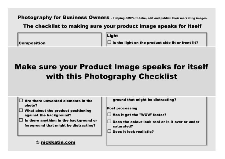 Make sure your Product Image speaks for itself with this Photography Checklist | Stock Photography for Entrepreneurs