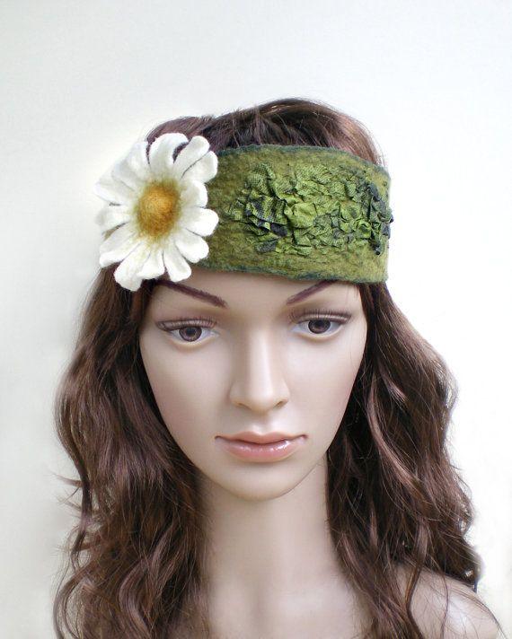 Daisy Flower Bohemian Hairband by IssaFelt