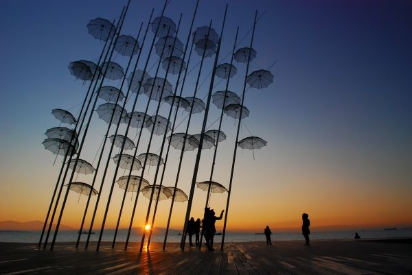 Umbrellas at the Beach Promenade, Thessaloniki