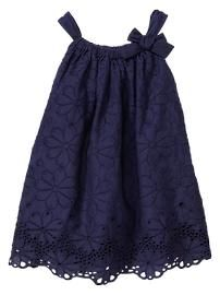 Homecoming Outfit Idea: Eyelet bow dress